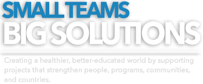 Small Teams Big Solutions